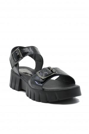 Sandale damă Ange negre din lac