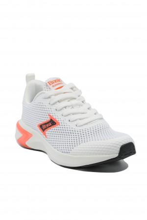 Sneakers albi damă din material textil plasă