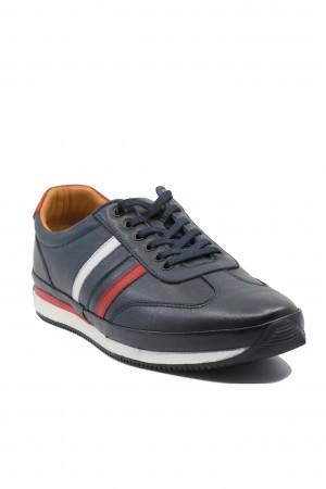 Pantofi casual sport bărbați, bleumarin, din piele naturală