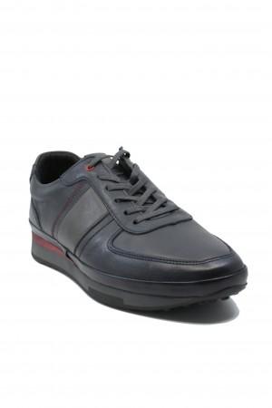 Pantofi sport bărbați, bleumarin patinat, din piele naturală