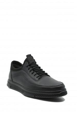 Pantofi casual bărbați, negri, din piele naturală