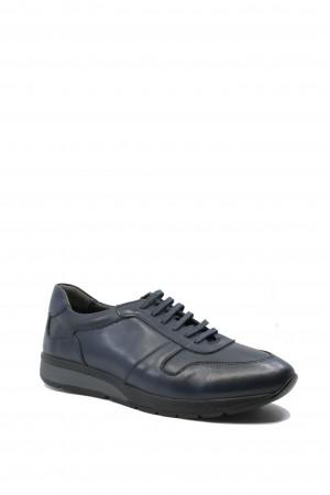 Pantofi sport navy bărbați din piele naturală