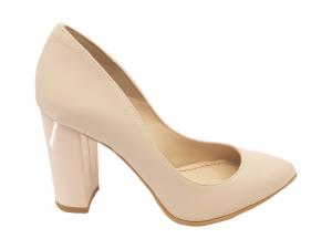 Pantofi eleganți nude din piele naturală