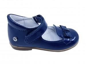 Pantofi fete bleumarin din lac