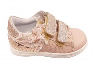 Pantofi fete sport roz pal din piele naturală