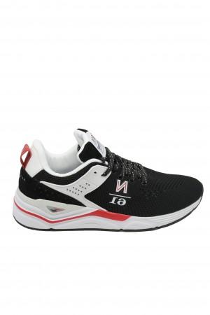 Pantofi sport bărbați, negri cu plasă, Thunder Knit