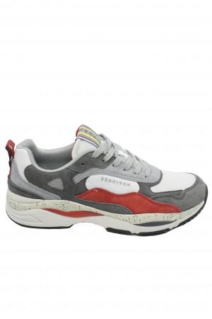 Pantofi sport bărbați Storm, alb cu gri