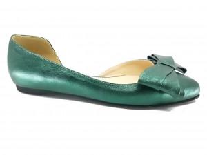 Pantofi damă decupați, model D'Orsay, verzi