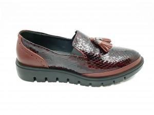 Pantofi damă casual din lac bordo