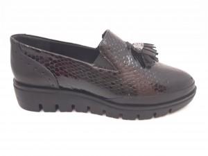 Pantofi damă casual din lac negri