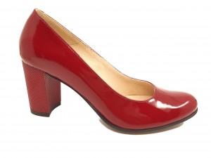 Pantofi damă roșii din lac