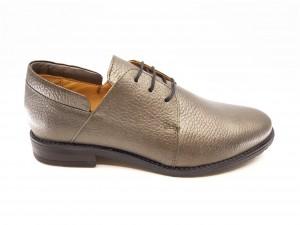Pantofi damă Maestra kaki din piele naturală