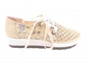 Pantofi sport damă bej din piele naturală