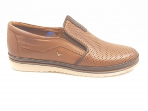 Pantofi casual maro perforați In Tempo