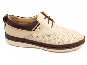 Pantofi casual bărbați piele naturală crem
