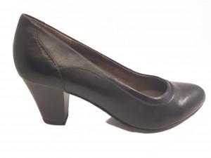 Pantofi damă office negri din piele naturală