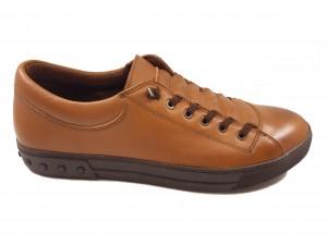 Pantofi sport maro bărbați din piele naturală