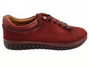 Pantofi sport bordo bărbați din piele întoarsă In Tempo