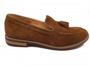 Pantofi slip-on bărbați din piele naturală întoarsă