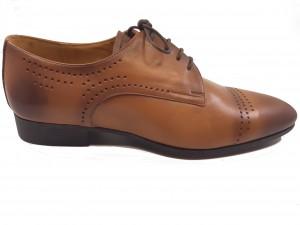 Pantofi cafenii de bărbați eleganți din piele naturală