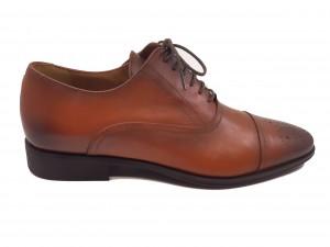 Pantofi cărămizii eleganți pentru bărbați din piele naturală