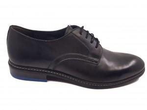 Pantofi negri eleganți pentru bărbați din piele naturală