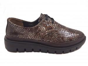 Pantofi damă casual maro cu platformă