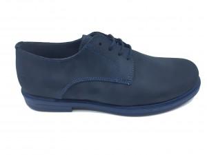 Pantofi blue băieți din piele întoarsă