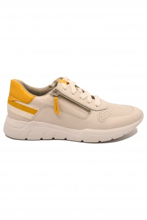 Pantofi sport damă albi din piele naturală
