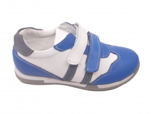 Pantofi sport albi băieți din piele naturală