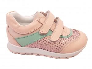 Pantofi sport fete roz din piele naturală