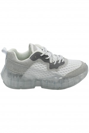 Pantofi sport damă silver din material textil