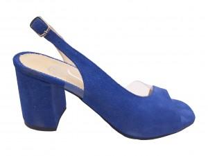Sandale decupate albastru antilopă