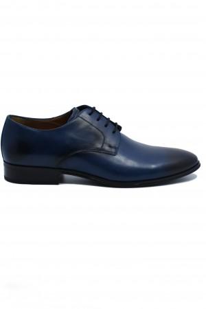 Pantofi eleganți bleumarin din piele naturală