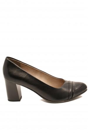 Pantofi damă office negri, din piele naturală