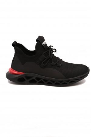 Sneakers Otter negri cu talpa voluminoasă
