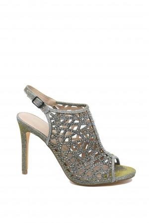 Sandale damă elegante gri tip botină
