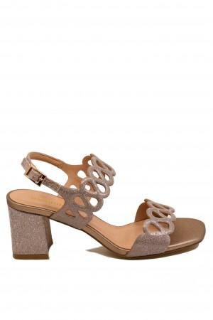 Sandale damă elegante nude sidefat