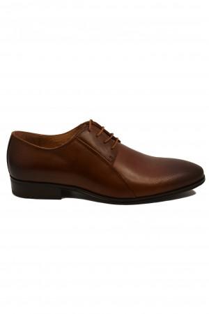 Pantofi eleganți cognac din piele naturală