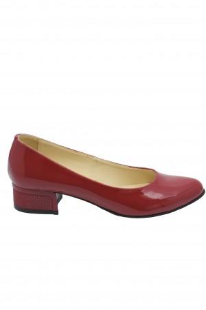 Pantofi damă casual roșii din lac