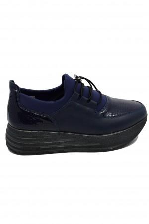 Pantofi sport damă bleumarin din piele naturală