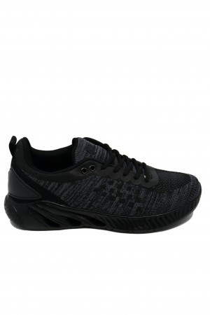 Pantofi sport negri bărbați din material textil, Ryt Senjoy