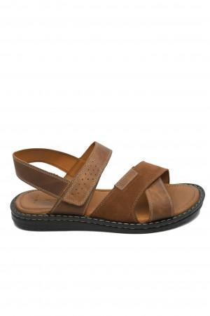 Sandale maro bărbați din piele naturală