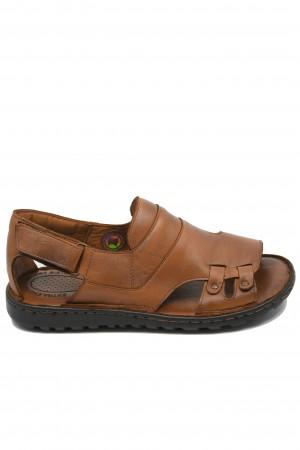 Sandale comode taba bărbați cu talpa cusută
