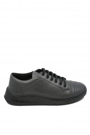 Pantofi bărbați casual gri din piele naturală