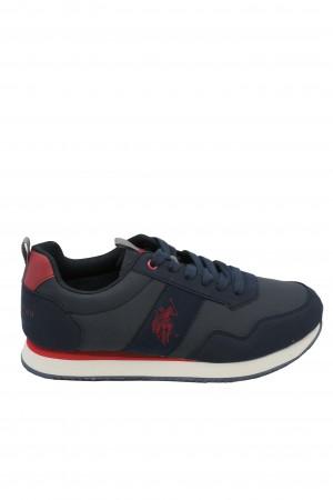 Pantofi sport bărbați bleumarin cu roșu, U.S. POLO ASSN.