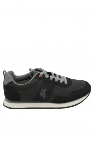 Pantofi sport bărbați negru cu gri, U.S. POLO ASSN.
