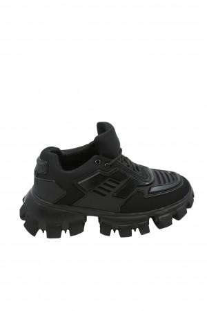 Pantofi sport damă negri, din material textil flexibil