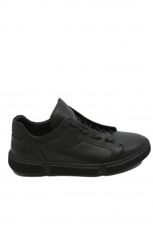 Pantofi sport bărbați Battisto Lascari, negri, din piele naturală