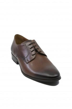 Pantofi maronii eleganți pentru bărbați din piele naturală